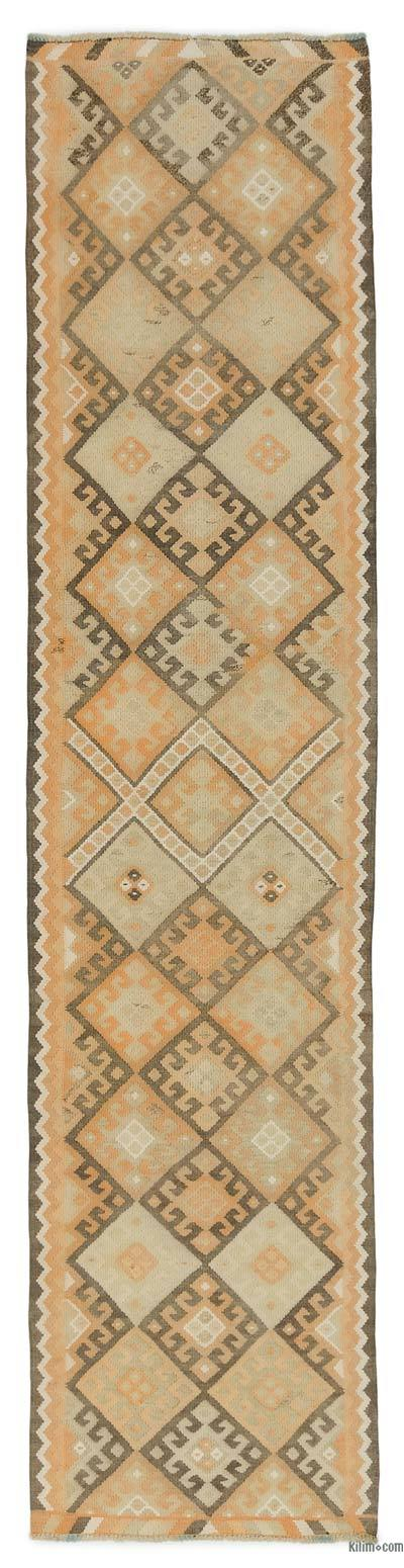 "Vintage Turkish Kilim Runner - 2' 11"" x 12' 4"" (35 in. x 148 in.)"