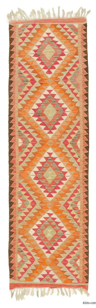 "Vintage Turkish Kilim Runner - 3'  x 9' 10"" (36 in. x 118 in.)"