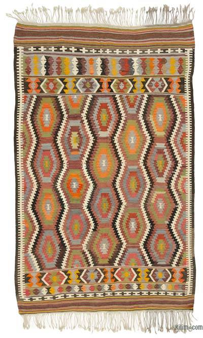 """Vintage Antalya Kilim Rug - 4' 11"""" x 7' 10"""" (59 in. x 94 in.)"""