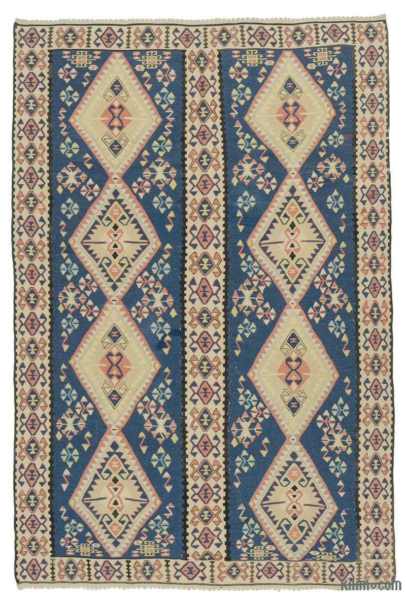 Lacivert, Bej Van Kilimi - 145 cm x 216 cm - K0043682