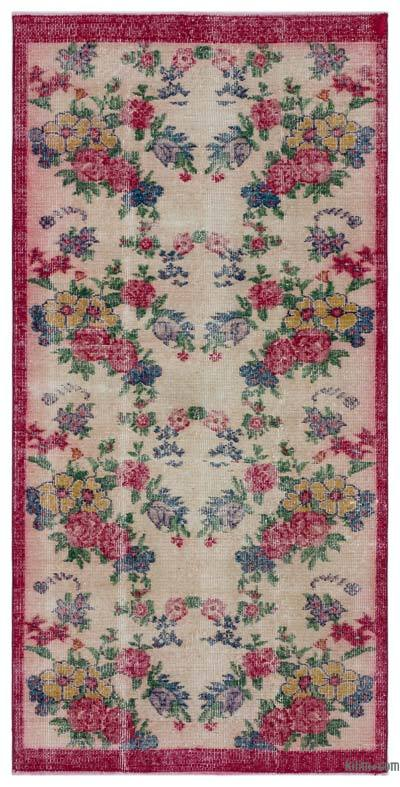 """Turkish Vintage Area Rug - 3' 2"""" x 6' 6"""" (38 in. x 78 in.)"""
