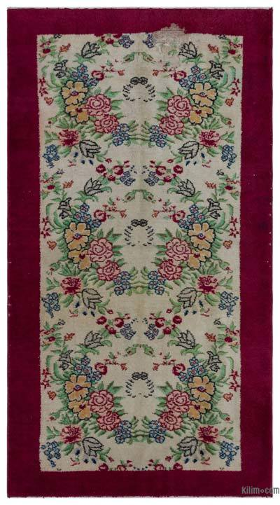 "Turkish Vintage Area Rug - 4'  x 6' 11"" (48 in. x 83 in.)"