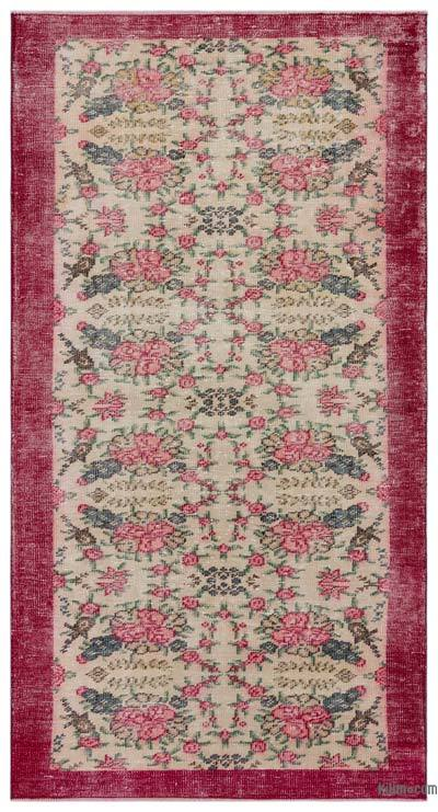 "Turkish Vintage Area Rug - 3'10"" x 7'3"" (46 in. x 87 in.)"