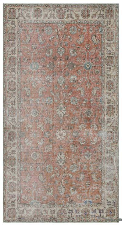 "Turkish Vintage Area Rug - 3'7"" x 6'9"" (43 in. x 81 in.)"