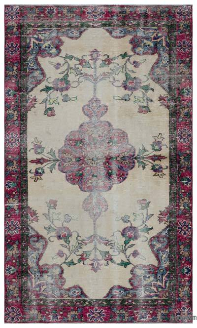 """Turkish Vintage Area Rug - 4'6"""" x 7'3"""" (54 in. x 87 in.)"""