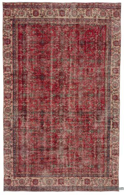 """Turkish Vintage Area Rug - 6' 5"""" x 10' 5"""" (77 in. x 125 in.)"""