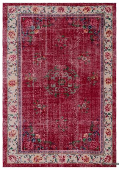 """Vintage Turkish Hand-Knotted Rug - 6' 9"""" x 9' 8"""" (81 in. x 116 in.)"""
