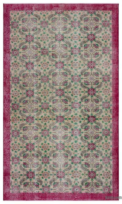 "Turkish Vintage Area Rug - 5' 7"" x 9' 5"" (67 in. x 113 in.)"