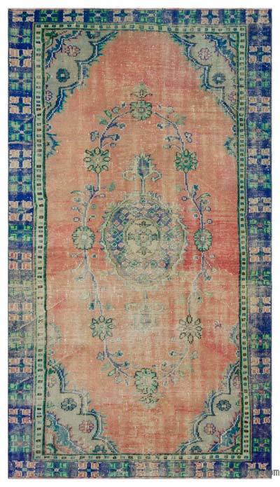 El Dokuma Vintage Halı - 155 cm x 270 cm