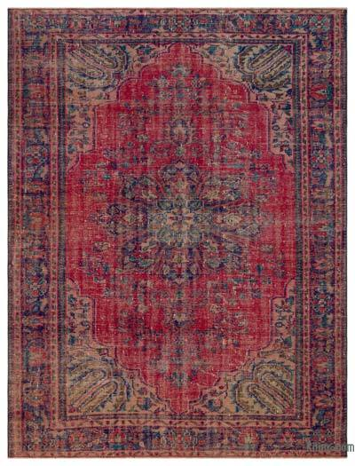 """Turkish Vintage Area Rug - 6'11"""" x 9' (83 in. x 108 in.)"""