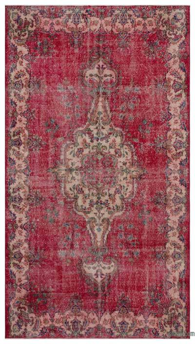 """Vintage Turkish Hand-Knotted Rug - 5' 7"""" x 10'  (67 in. x 120 in.)"""