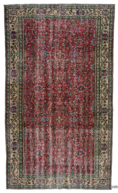 "Turkish Vintage Area Rug - 5'7"" x 9'9"" (67 in. x 117 in.)"