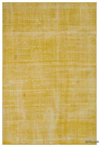 Boyalı El Dokuma Vintage Halı - 194 cm x 288 cm