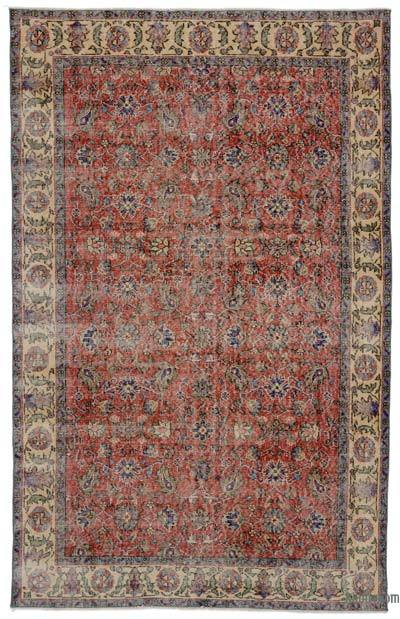 "Turkish Vintage Area Rug - 5'5"" x 8'6"" (65 in. x 102 in.)"