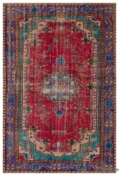 """Turkish Vintage Area Rug - 6' x 9'1"""" (72 in. x 109 in.)"""