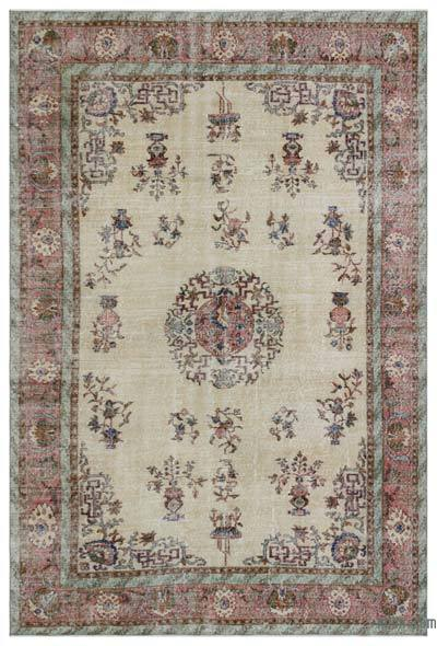"Turkish Vintage Area Rug - 6' 9"" x 9' 11"" (81 in. x 119 in.)"