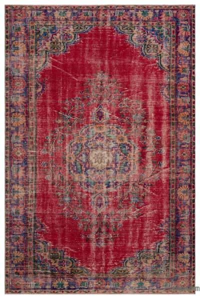 "Turkish Vintage Area Rug - 6'1"" x 9'4"" (73 in. x 112 in.)"