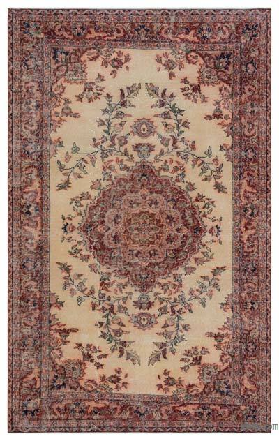 "Turkish Vintage Area Rug - 5'1"" x 8'3"" (61 in. x 99 in.)"