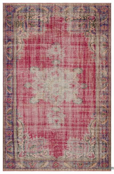 """Vintage Turkish Hand-Knotted Rug - 5' 10"""" x 9'  (70 in. x 108 in.)"""