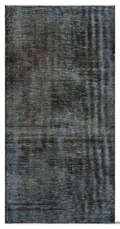 Boyalı El Dokuma Vintage Halı - 102 cm x 205 cm