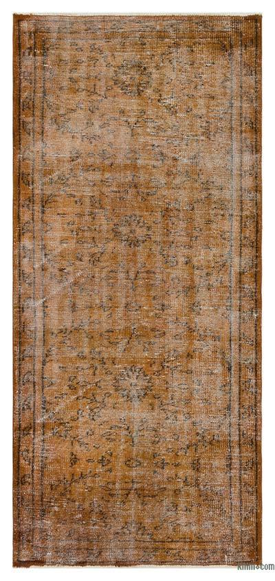 Boyalı El Dokuma Vintage Halı - 92 cm x 200 cm