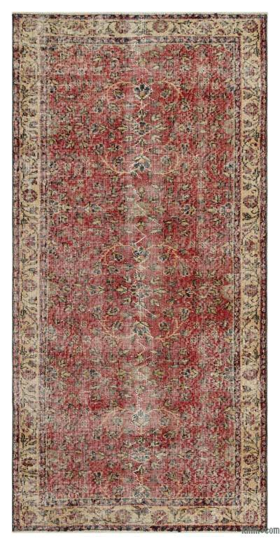 """Turkish Vintage Area Rug - 3'1"""" x 6'4"""" (37 in. x 76 in.)"""