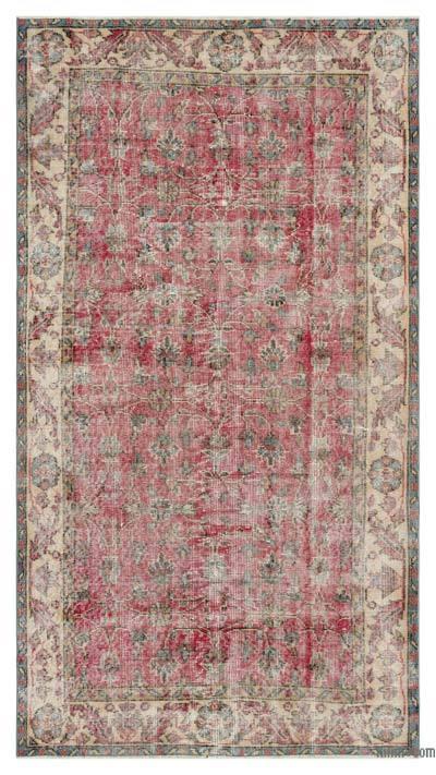 El Dokuma Vintage Halı - 111 cm x 204 cm