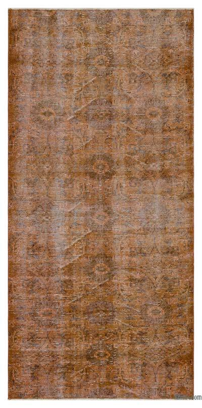 "Over-dyed Turkish Vintage Rug - 3' 7"" x 7' 4"" (43 in. x 88 in.)"