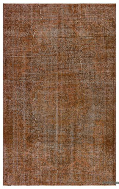 "Brown Over-dyed Turkish Vintage Rug - 5' 6"" x 8' 10"" (66 in. x 106 in.)"