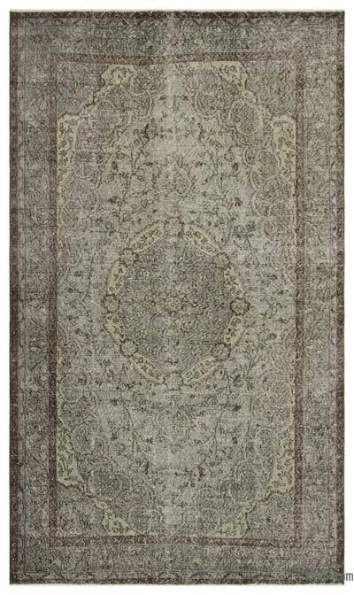 "Over-dyed Turkish Vintage Rug - 5' 6"" x 8' 11"" (66 in. x 107 in.)"