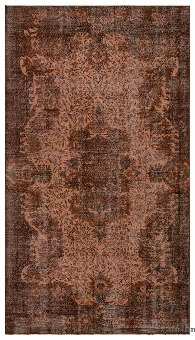 Alfombra Turca Vintage Sobre-teñida - 173 cm x 290 cm