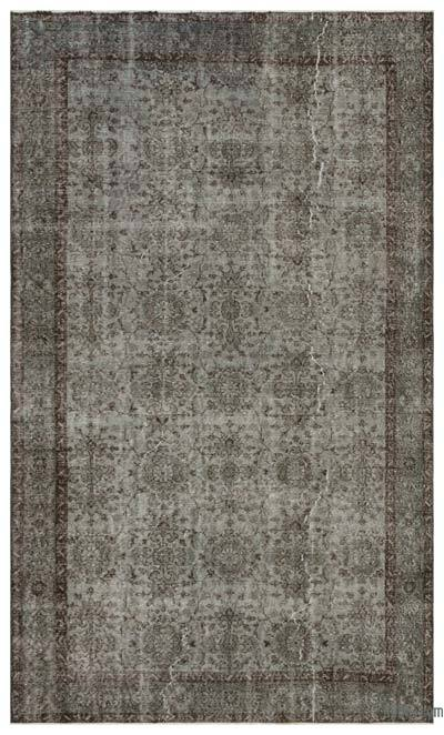 """Over-dyed Turkish Vintage Rug - 5' 8"""" x 9' 9"""" (68 in. x 117 in.)"""