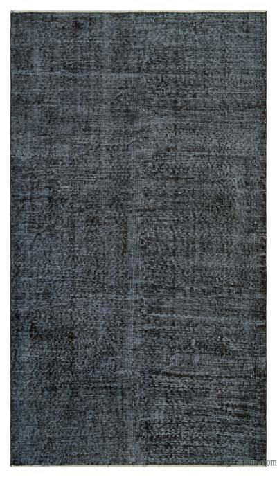 "Grey Over-dyed Turkish Vintage Rug - 3' 9"" x 6' 6"" (45 in. x 78 in.)"
