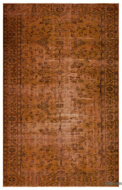"""Over-dyed Turkish Vintage Rug - 5'10"""" x 9'1"""" (70 in. x 109 in.)"""