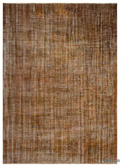 """Brown Over-dyed Turkish Vintage Rug - 6' 1"""" x 8' 6"""" (73 in. x 102 in.)"""
