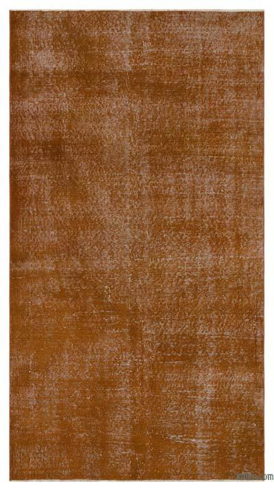 Boyalı El Dokuma Vintage Halı - 125 cm x 222 cm