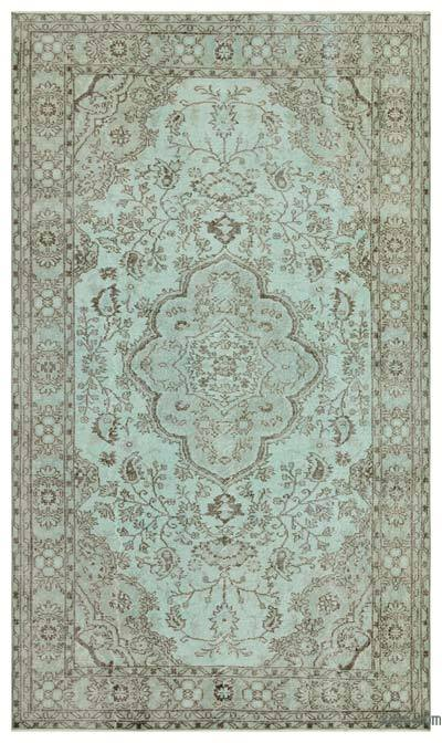 """Over-dyed Turkish Vintage Rug - 5' 5"""" x 9' 3"""" (65 in. x 111 in.)"""