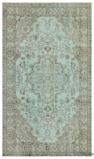 Boyalı El Dokuma Vintage Halı - 164 cm x 282 cm