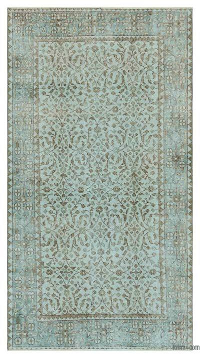 "Over-dyed Turkish Vintage Rug - 5'10"" x 6'11"" (70 in. x 83 in.)"