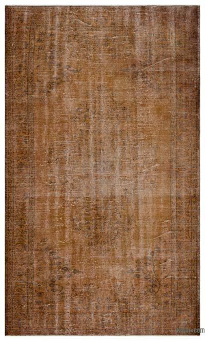 Alfombra Turca Vintage Sobre-teñida - 181 cm x 302 cm
