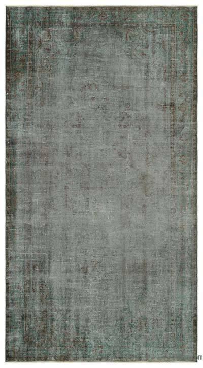 Boyalı El Dokuma Vintage Halı - 160 cm x 302 cm
