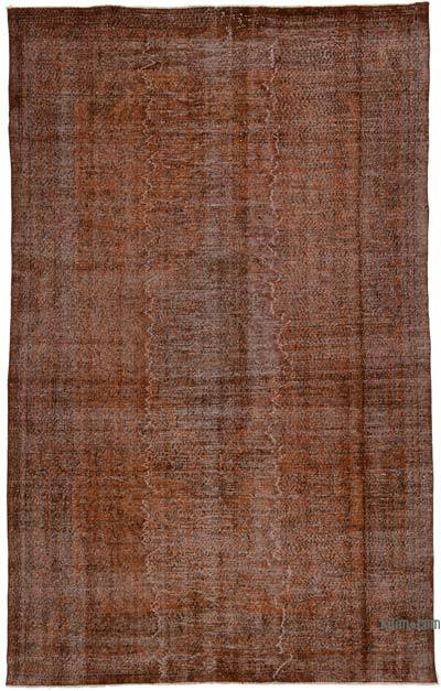 "Over-dyed Turkish Vintage Rug - 6' 7"" x 10' 8"" (79 in. x 128 in.)"