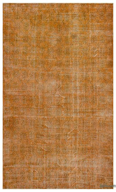 """Over-dyed Turkish Vintage Rug - 6' 2"""" x 10' 2"""" (74 in. x 122 in.)"""