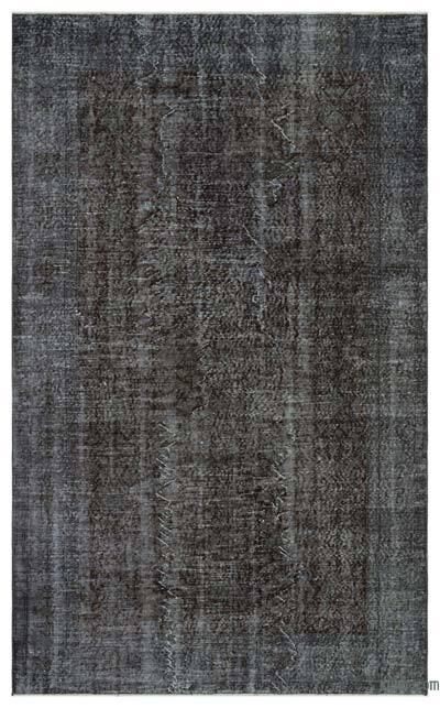 Boyalı El Dokuma Vintage Halı - 165 cm x 270 cm