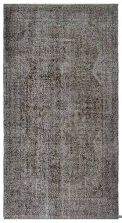 "Over-dyed Turkish Vintage Rug - 5'1"" x 9'7"" (61 in. x 115 in.)"