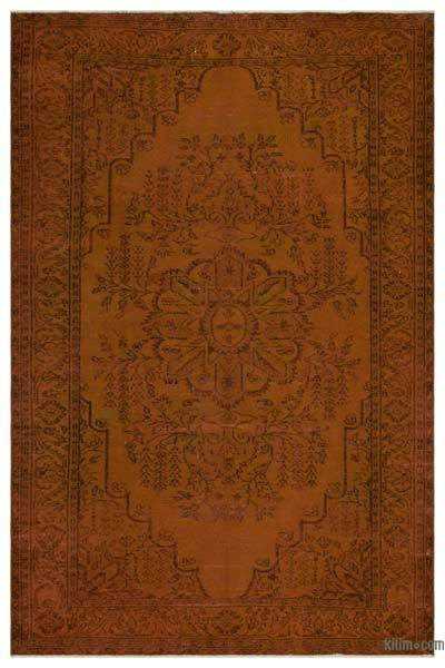 """Over-dyed Turkish Vintage Rug - 6'3"""" x 9'4"""" (75 in. x 112 in.)"""