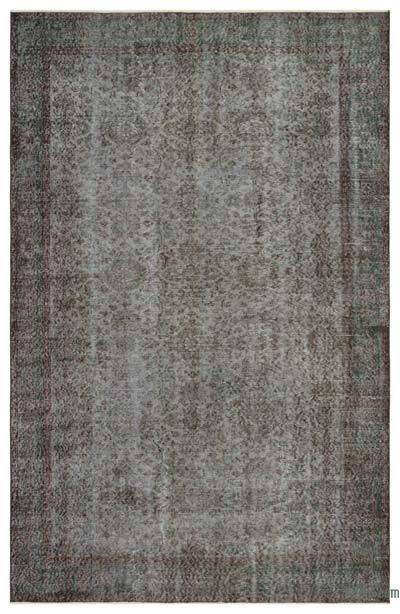 Boyalı El Dokuma Vintage Halı - 175 cm x 277 cm