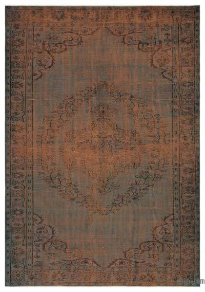 "Over-dyed Turkish Vintage Rug - 6' 2"" x 8' 8"" (74 in. x 104 in.)"