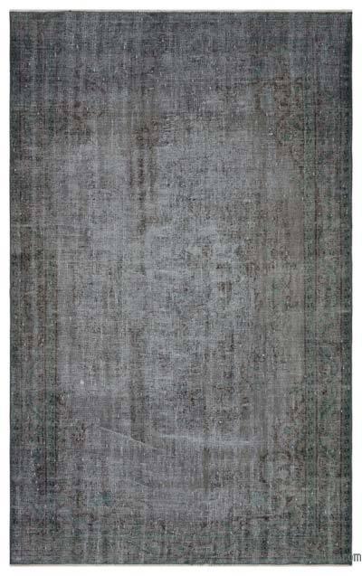 Boyalı El Dokuma Vintage Halı - 162 cm x 269 cm