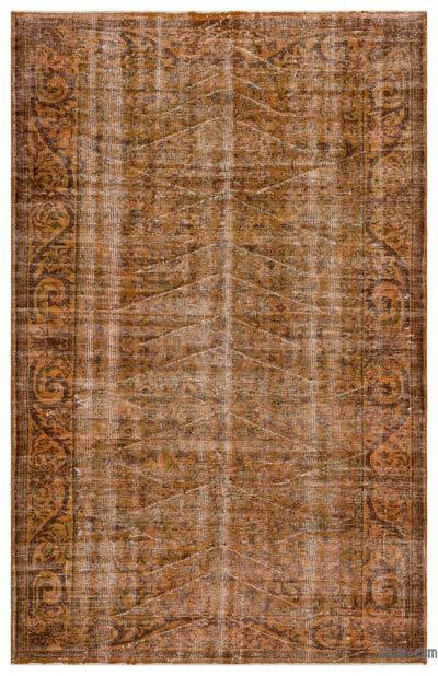 Boyalı El Dokuma Vintage Halı - 182 cm x 284 cm